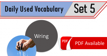 English Vocabulary list with Urdu meanings - Set 5