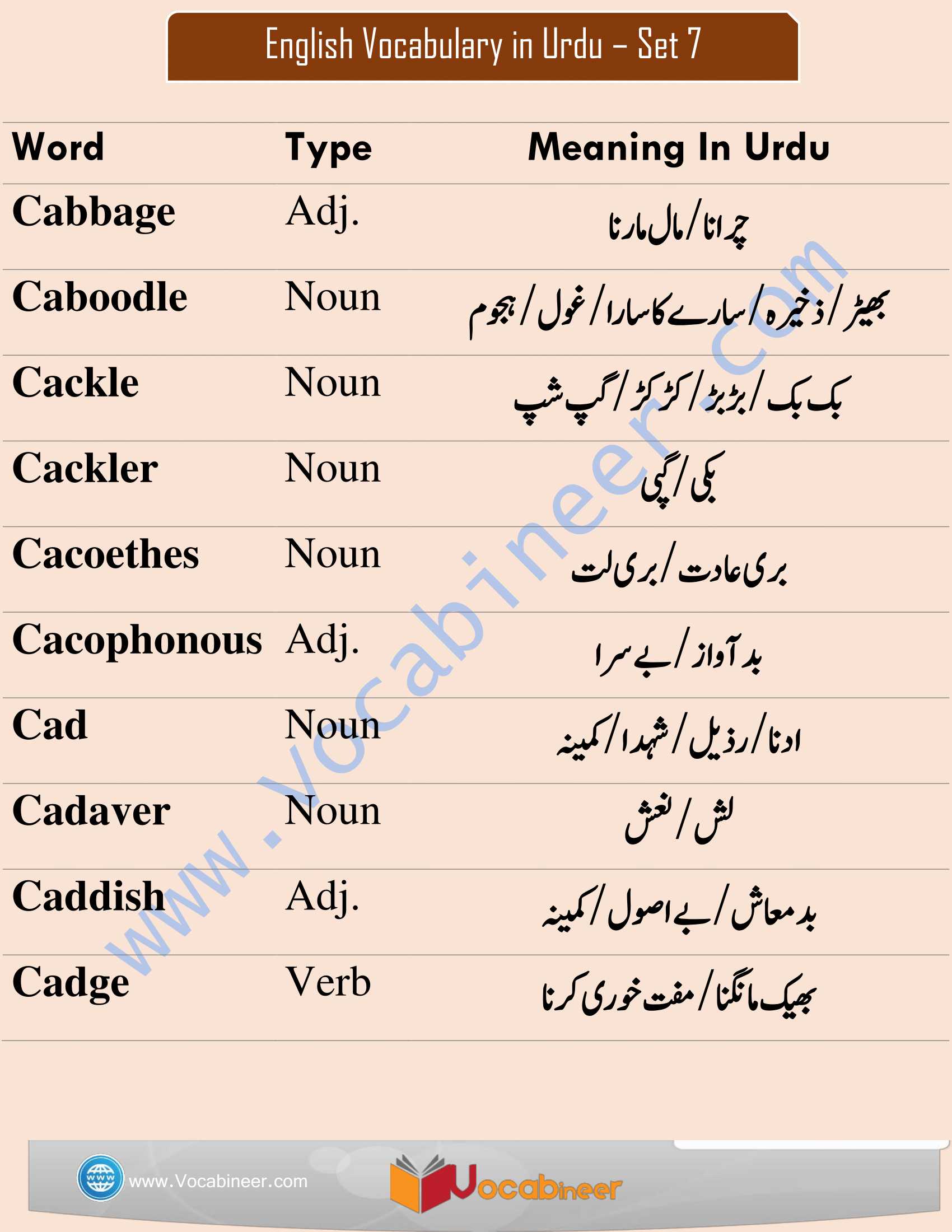 Hindi Vocabulary Pdf