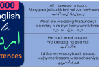 English to Urdu Sentences used in Daily Life for Speaking