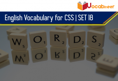 English vocabulary for CSS PMS and for different competitive exams. English vocabulary for IAS, UPSC and IAS with Urdu and Hindi Meanings.