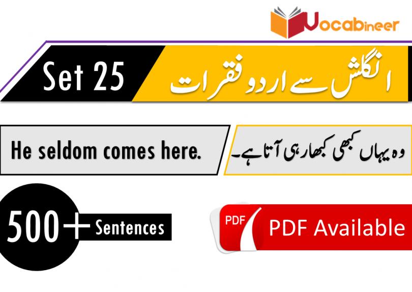 English To Hindi Urdu Sentences Used In Daily Life Set 25