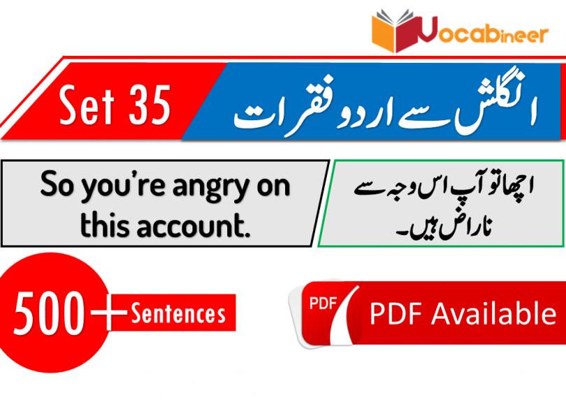 Spoken English lessons with Urdu translation - Set 35 | Vocabineer