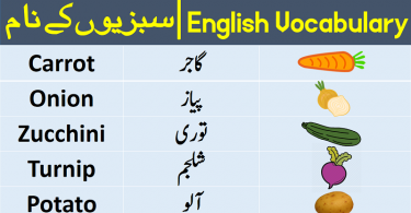 Vegetables Vocabulary in Urdu Hindi, Vegetable names with Pictures, vocabulary in Urdu, English to Urdu, Urdu to English, English words in Urdu, English words with Urdu meanings, English vocabulary with Urdu meanings
