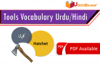 Tools Vocabulary and Weapons Vocabulary in Urdu Hindi, Daily used vocabulary in Urdu, English vocabulary with Urdu meanings, Vocabulary for kids in Urdu, Islamic vocabulary words, Daily used English vocabulary.www.vocabineer.com