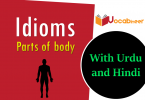 Parts of body idioms with Hindi and Urdu meanings and sentences PDF. Idioms related to body parts in Urdu and Hindi. Idioms about Parts of body.