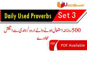 Proverbs translated in Hindi and Urdu PDF | Vocabineer