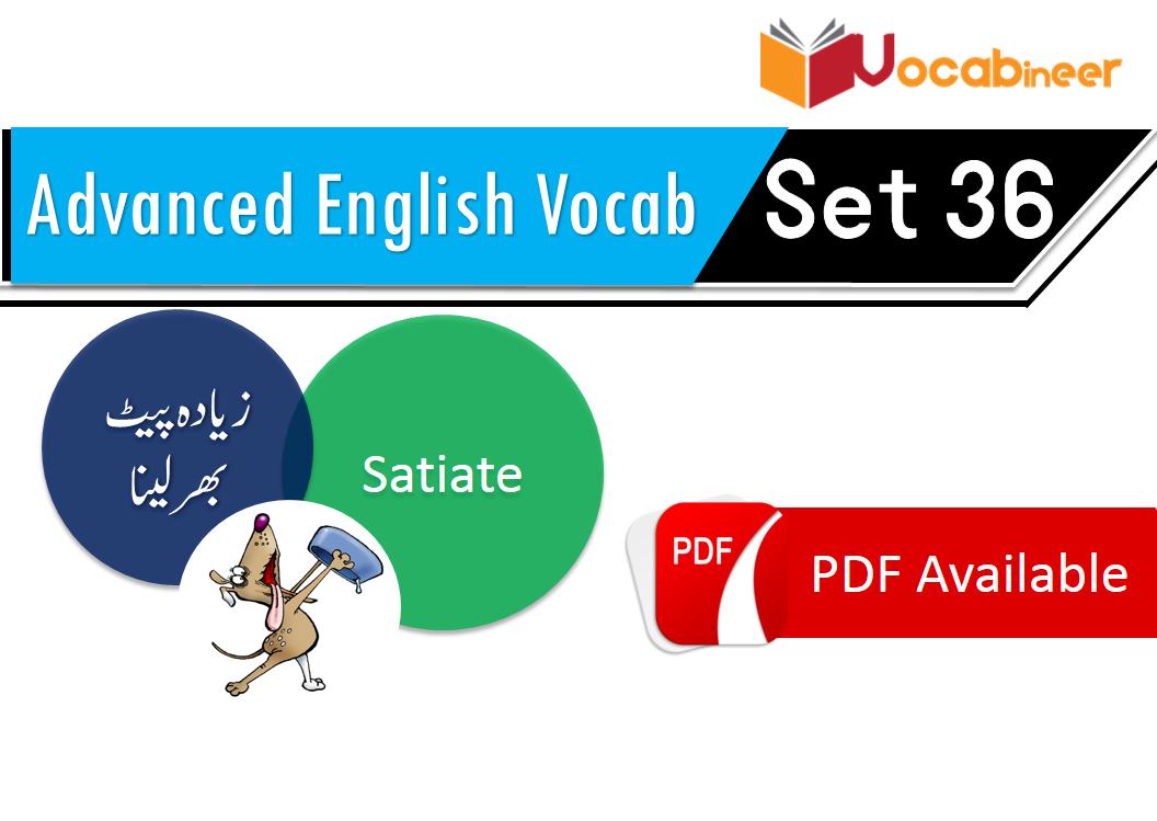 English Hindi Vocabulary for advanced level Set 36
