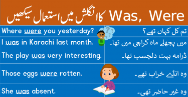 Use of Was, Were in English with Urdu and Hindi learn daily used English sentences with Urdu and Hindi translation using the helping verbs was and were.