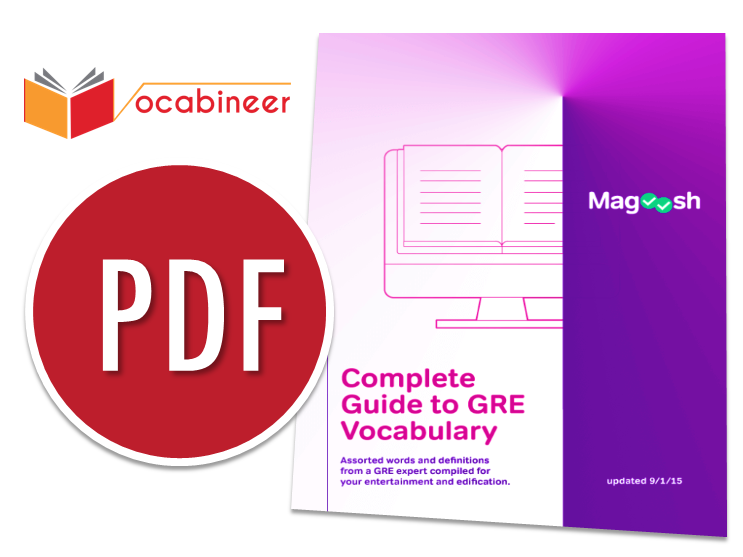 Magoosh Complete Guide to GRE Vocabulary eBook