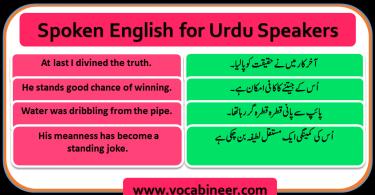 Spoken English for Urdu Speakers Learn - Speak Fluently