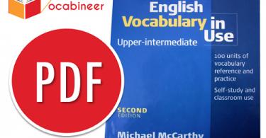 English Vocabulary In Use Upper Intermediate PDF, English Vocabulary In Use Upper Intermediate second edition download pdf