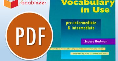 Cambridge University Press English Vocabulary In Use PDF, Pre intermediate and intermediate English vocabulary in use PDF