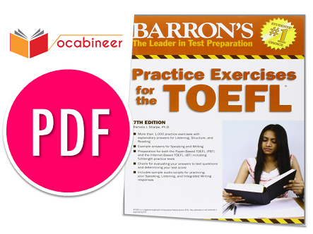 Barron S Practice Exercises For The Toefl Ibt Pdf Book