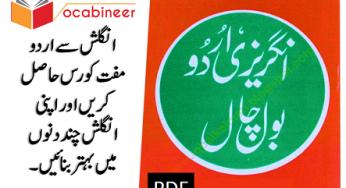 Learn to speak English in 100 days Urdu PDF book download