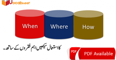 When, Where, How With Urdu Translation PDF