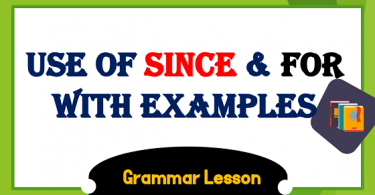 Since and For Usage With Examples Exercise PDF, Since vs for, use of since and for in Urdu PDF