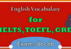 IELTS Vocabulary Words with Urdu Meaning and PDF, Gre Vocabulary with Urdu, TOEFL Vocabulary with Urdu