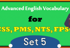 Important CSS Advanced English Vocabulary Words Download PDF