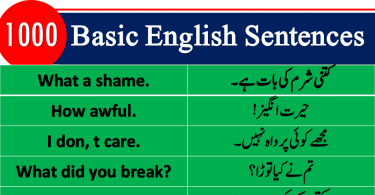 Best English sentences in Urdu PDF, Most used English sentences in Hindi, English to Hindi conversation PDF, Kids English, Basic English lessons in Urdu