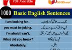 Basic English lessons in Hindi,Basic Sentences in Hindi, Hindi Sentences PDF, Urdu Sentences PDF, Short Sentences with Urdu, Short Sentences with Hindi