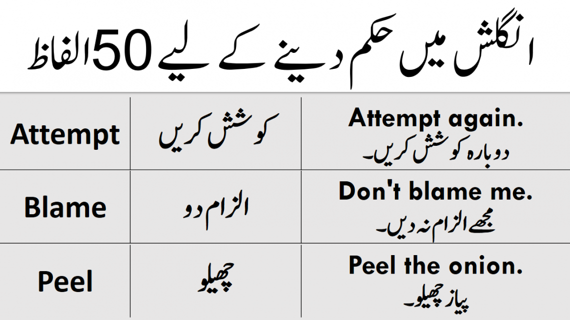 100 English Words with Sentences in Urdu for Daily Use