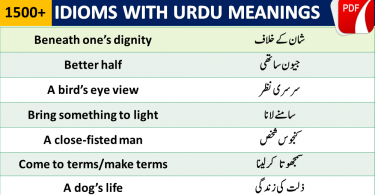 List of English IDIOMS in Urdu Meanings with Sentences PDF English Idioms with Urdu Meanings and Sentences Used in Daily life Conversation for Exams like CSS, PPSC, FPSC, NTS, IELTS, TOEFL and other exams English idioms in Urdu with PDF Book