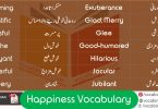 Happiness Related Vocabulary with Urdu Meanings