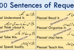 Sentences of Request in Urdu and Hindi Translation learn how to make request in different ways using 100 common English sentences with Urdu and Hindi Translation.