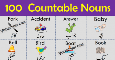 100 Common Countable Nouns Examples in English