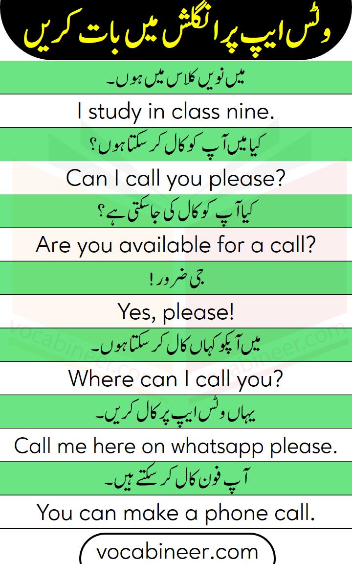 Spoken English course in Urdu