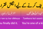 Daily use english sentences to praise someone with Urdu translation