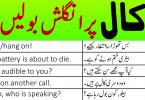phone call English sentences