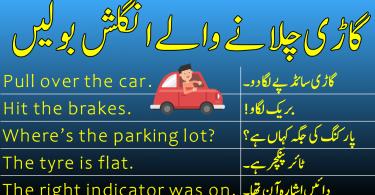 Driving Related English to Urdu Sentences